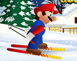 Mario Downhill Skiing
