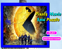 Pixels Movie Spin Puzzle