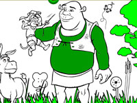 Shrek 2 Create and Color