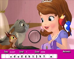 Sofia The First Hidden Letters