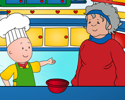 Caillou Cooking With Grandma