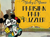 Mickey and Minnie Parisian Park Puzzler