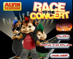 Alvin and the Chipmunks Race to Concert