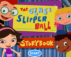 The Glass Slipper Ball Story Book